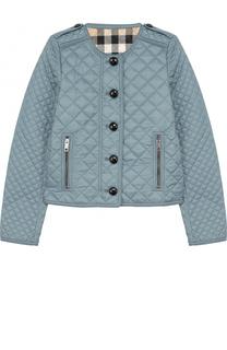 Стеганая куртка с контрастными пуговицами Burberry