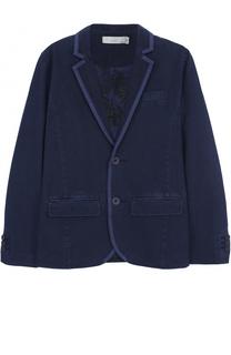 Однобортный пиджак из хлопка с отделкой Stella McCartney