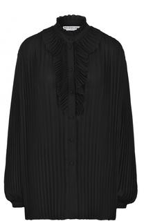 Плиссированная блуза свободного кроя Balenciaga