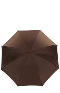 Зонт-трость с принтом и декором на ручке Pasotti Ombrelli