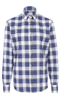 Хлопковая блуза прямого кроя в клетку Stella Jean