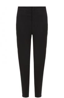 Укороченные брюки с контрастными лампасами Isabel Marant Etoile