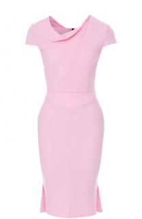 Платье-футляр с драпировкой и коротким рукавом Roland Mouret