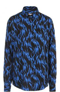 Блуза прямого кроя с принтом Saint Laurent