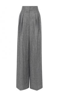 Льняные широкие брюки с защипами Michael Kors
