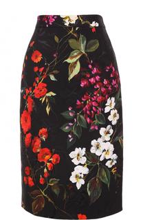 Юбка-карандаш с цветочным принтом Escada