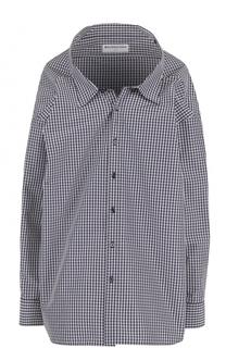 Блуза свободного кроя в клетку Balenciaga