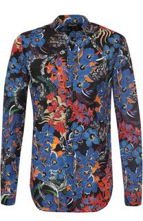Хлопковая рубашка с принтом Just Cavalli