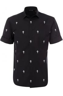Хлопковая рубашка с короткими рукавами Neil Barrett