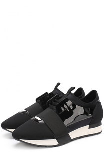 Комбинированные кроссовки с эластичной лентой Balenciaga