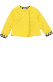 Стеганая куртка с аппликациями и фигурными пуговицами Gucci