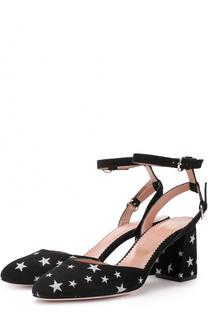 Замшевые туфли с аппликациями в виде звезд REDVALENTINO