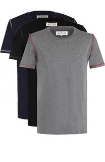 Комплект из трех хлопковых футболок с круглым вырезом Maison Margiela
