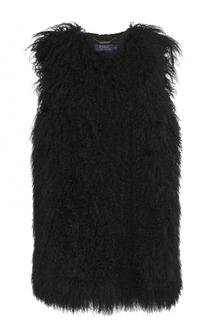 Удлиненный жилет из меха овчины Polo Ralph Lauren