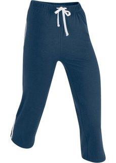 Спортивные брюки капри с эффектом стретч (темно-синий) Bonprix