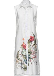 Удлиненная блузка (белый с рисунком) Bonprix