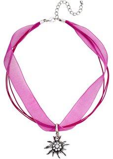 Колье Эдельвейс (ярко-розовый/серебристый) Bonprix