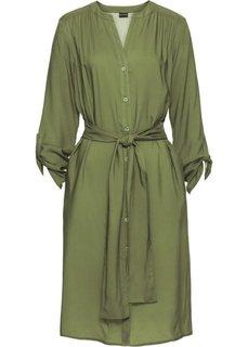 Платье-рубашка (оливковый) Bonprix