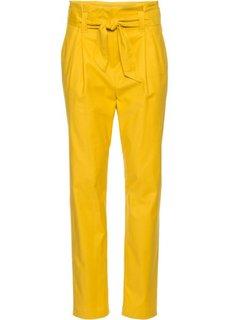 Брюки с поясом (желтый) Bonprix