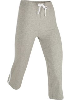 Спортивные брюки капри с эффектом стретч (светло-серый меланж) Bonprix