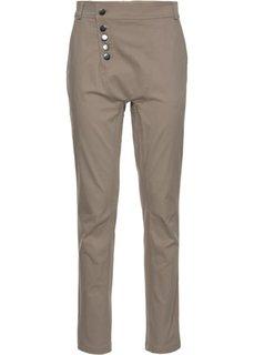 Хлопчатобумажные брюки-стретч (серо-коричневый) Bonprix