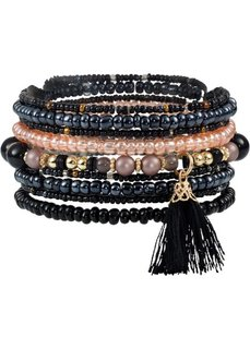 Набор браслетов с кисточками (9 шт.) (различные расцветки) Bonprix