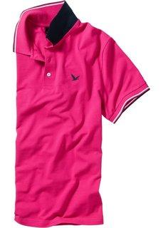 Футболка поло Regular Fit (горячий ярко-розовый) Bonprix