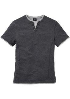 Мужская футболка 2 в 1 (антрацитовый меланж) Bonprix