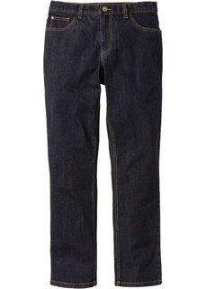 Прямые стрейтчевые джинсы, cредний рост (N) (черный) Bonprix
