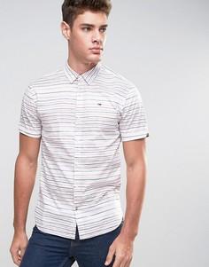 Рубашка в горизонтальную полоску с короткими рукавами Tommy Hilfiger Denim - Красный