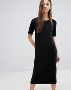 Платье-футболка миди Weekday - Черный