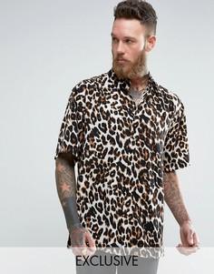 Фестивальная рубашка классического кроя Reclaimed Vintage Inspired - Коричневый