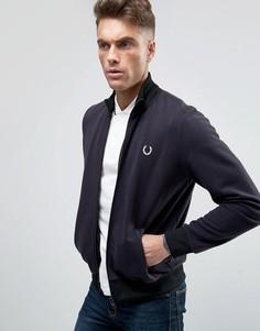 Темно-синяя спортивная куртка Fred Perry REISSUES - Темно-синий