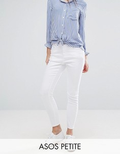 Белые джинсы скинни с завышенной талией ASOS PETITE RIDLEY - Белый