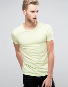 Желтая футболка с необработанным краем BOSS Orange by Hugo Boss - Желтый