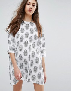 Платье-туника с принтом Noisy May - Белый