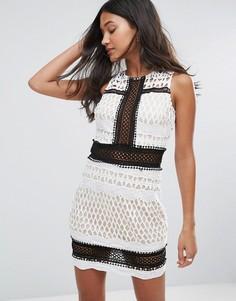 Платье с контрастным кружевом Love & Other Things - Белый