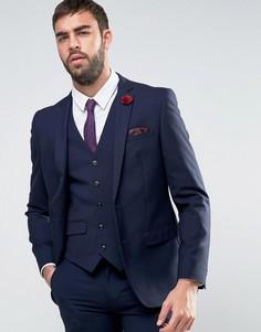 Узкий однотонный пиджак Harry Brown - Темно-синий