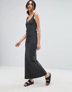 Трикотажное платье макси в полоску Vero Moda - Мульти
