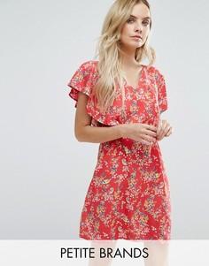 Платье с цветочным принтом Yumi Petite - Красный