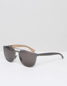 Квадратные солнцезащитные очки BOSS by Hugo Boss - Серебряный