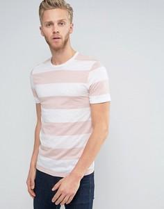 Премиум-футболка в полоску Jack & Jones - Розовый