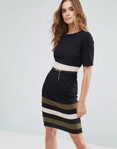 Платье с контрастными полосами Paper Dolls - Черный