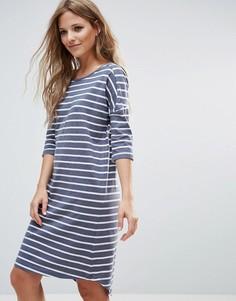 Платье-футболка в полоску Blend She Henry - Синий