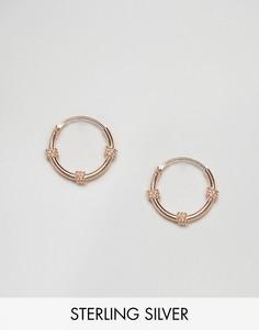 Покрытые розовым золотом серьги-кольца Kingsley Ryan Bali - Золотой