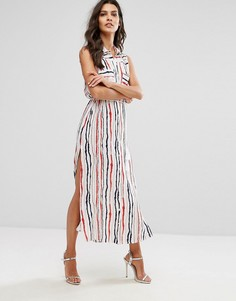 Платье-рубашка макси в полоску Unique 21 - Мульти