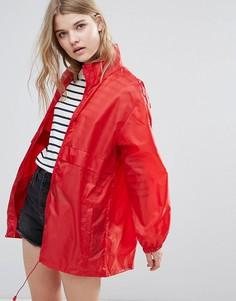 Однотонный дождевик с капюшоном Totes - Красный