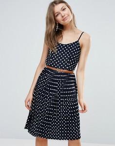 Плиссированное платье миди Sugarhill Boutique - Черный