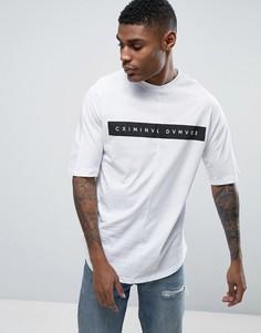 Свободная футболка с закругленным низом Criminal Damage - Белый