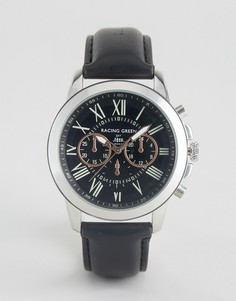 Черные часы с декоративными циферблатами Racing Green - Черный